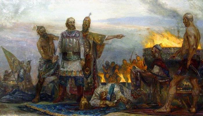 Князь Михаил Черниговский отказался поклоняться Огню и Солнцу./ Фото: readtiger.com